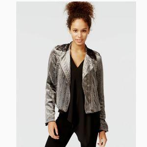Rachel Rachel Roy Velvet Moto Jacket NWT Small